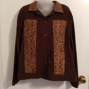 N Touch Jackets & Coats - Tapestry Patchwork Patches Jacket Large